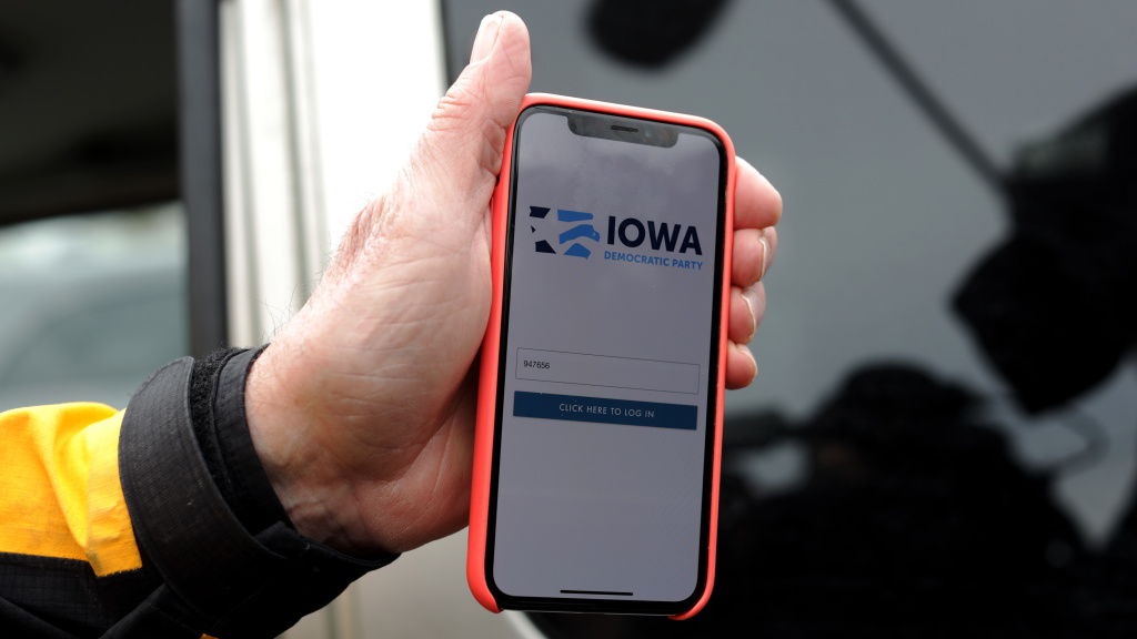 The Iowa Democrats' app contributed to the failure to transmit caucus results.