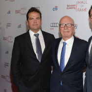 BEVERLY HILLS, CA - MARCH 11:  Lachlan Murdoch, Rupert Murdoch and James Murdoch attend The Television Academy's 23rd Hall Of Fame Induction Gala at Regent Beverly Wilshire Hotel on March 11, 2014 in Beverly Hills, California.