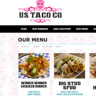 A screenshot of the U.S. Taco Co. website