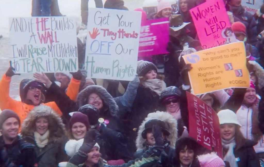 The Women's March in 2017 inspired a rally at the Sundance Film Festival where speakers addressed a wide range of issues, including equality in the movie industry.