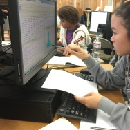 Students at North Hollywood High School, part of the Los Angeles Unified School District, work on an assignment in their Introduction to data and science course.