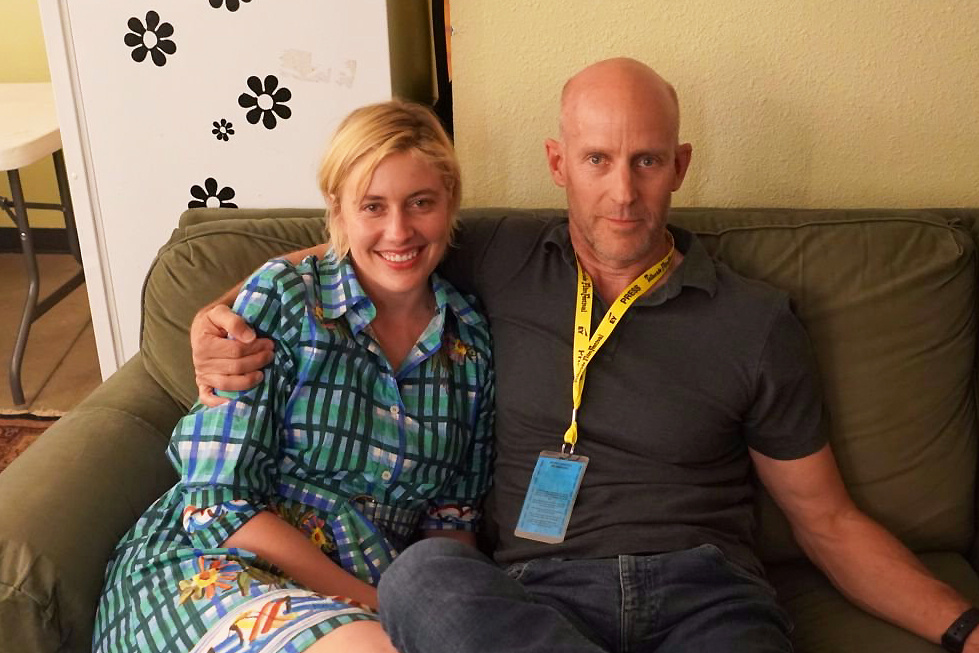 Writer-director Greta Gerwig with The Frame's John Horn at the Telluride Film Festival 2017.