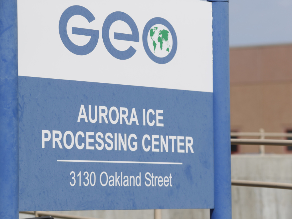 The GEO Group's immigrant detention facility in Aurora, Colo., where detainees are challenging forced work rules.