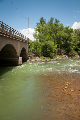 Cement Creek, which was flooded with millions of gallons of mining wastewater, meets with the Animas River on Aug. 11, 2015 in Silverton, Colorado. The Environmental Protection Agency accidentally released approximately 3 million gallons of wastewater into the creek from the Gold King mine, polluting the larger Animas River downstream.