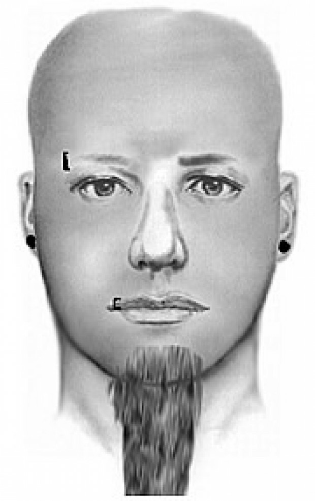 A composite sketch of the Lake Elsinore attacker