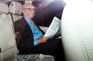 Rupert Murdoch is driven from his apartment on July 20, 2011 in London, England.