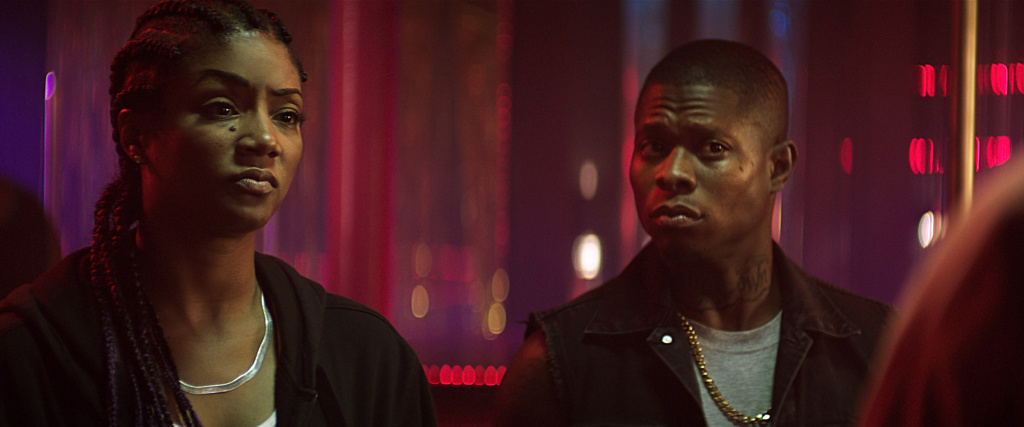 "(L-r) TIFFANY HADDISH as Hi-C and JASON MITCHELL as Bud in New Line Cinema's action comedy ""KEANU,"" a Warner Bros. Pictures release. Courtesy of Warner Bros. Pictures"