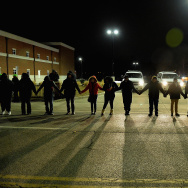 Image of protestors in Ferguson, Missouri earlier this year.