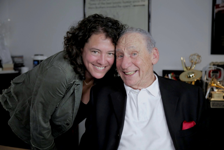 Director Ferne Pearlstein and Mel Brooks in