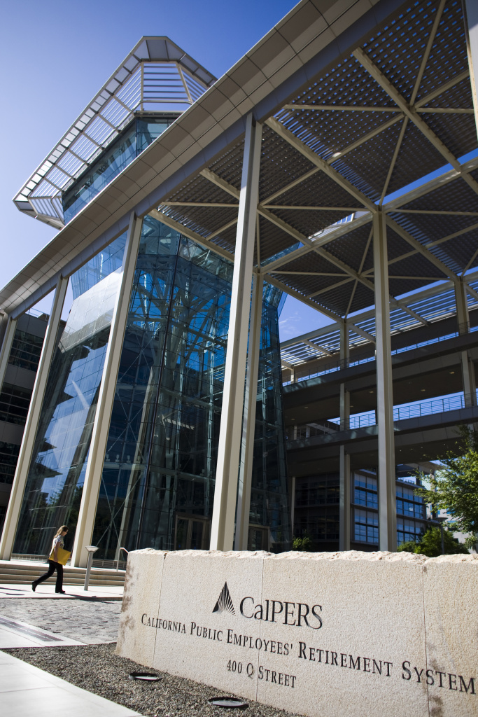 The California Public Employees' Retirement System building in Sacramento, California.