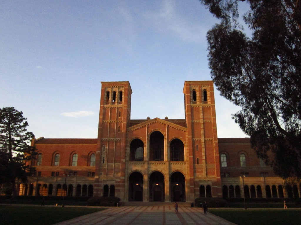 Royce Hall on UCLA's campus in Los Angeles, California.