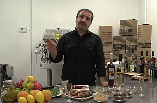 Melkon Khasrovian, co-founder of Modern Spirits, a small organic distillery in Monrovia.