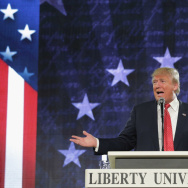 Trump courted young Christians at Liberty University earlier this year.