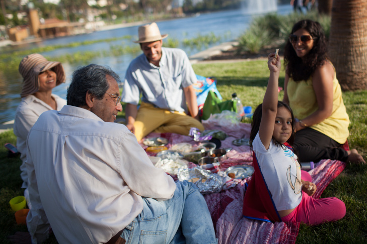 Crowds flocked to Echo Park Lake for its reopening on June 15, 2013.