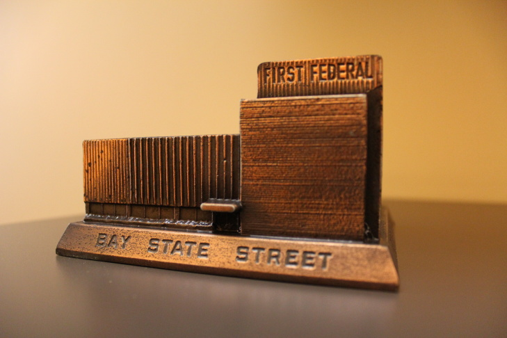 LA Magazine's Chris Nichols shares his model of the First Federal Savings Bank in Alhambra.