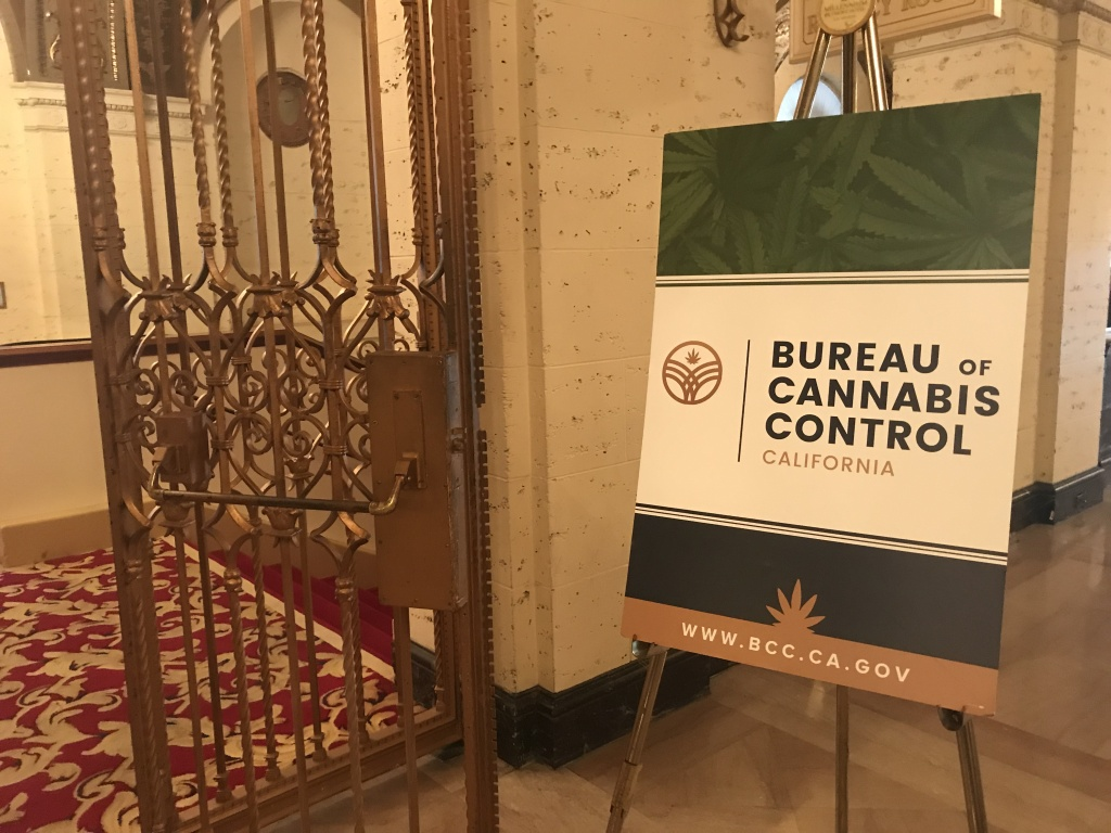State cannabis regulators held a meeting in a downtown Los Angeles hotel to take public comment on proposed rules, Aug. 14, 2018.