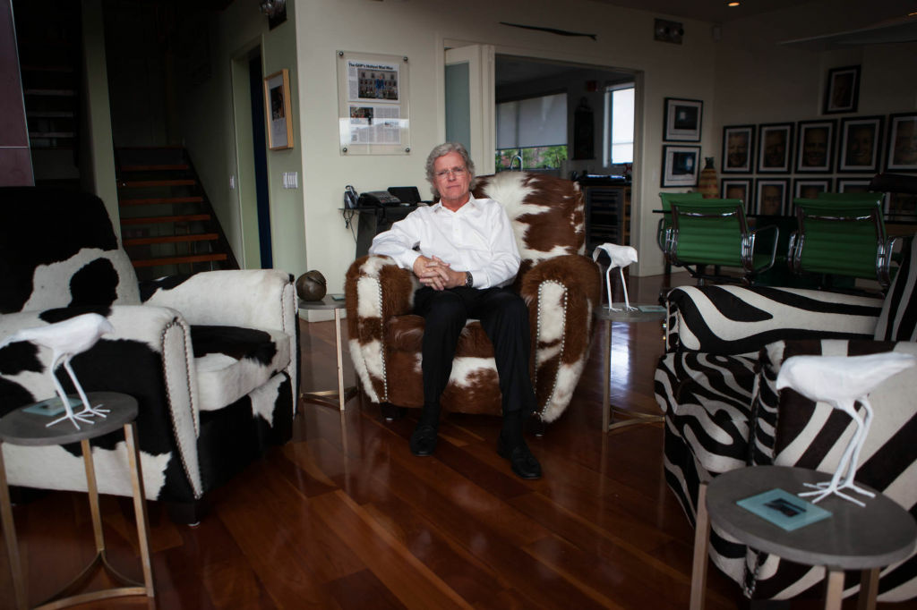 Republican strategist Fred Davis in his Hollywood Hills office.