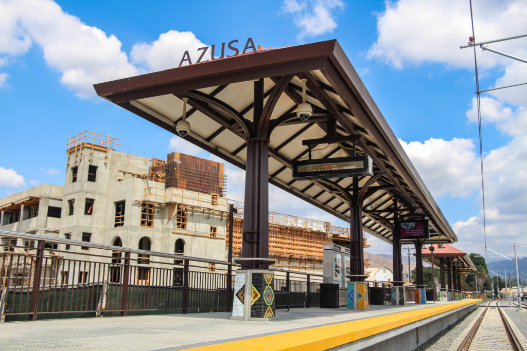A rendering of Metro Gold Line's Azusa Station.