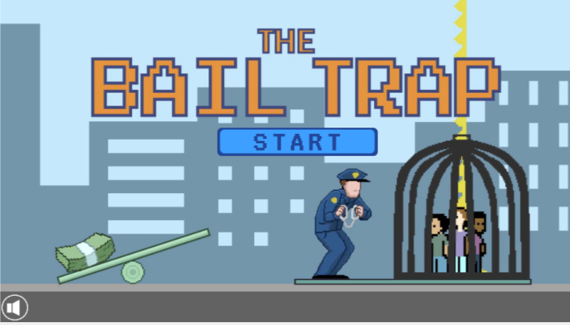 The Bail Trap video game title screen.