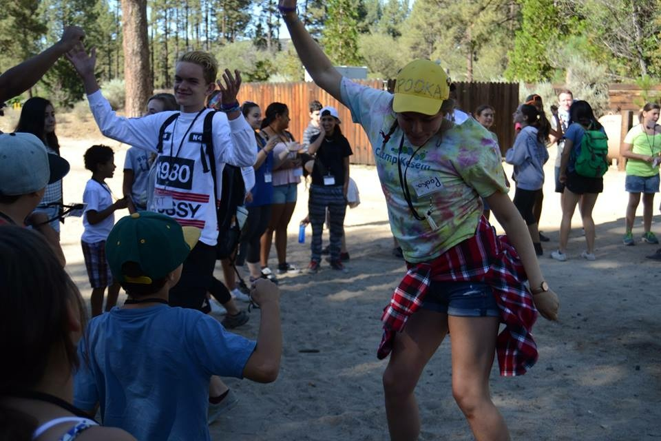 Claire Witzke as a counselor at Camp Kesem USC 2015.