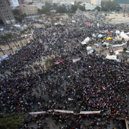 Thousands of Egyptians gather during a d
