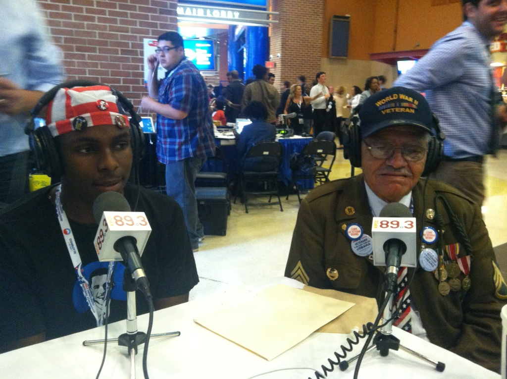 Stephen Sherman, California's oldest delegate, 91 years old, African-American WWII vet and Trestan Fair, California's youngest delegate; he will turn 18 on the day before Election Day