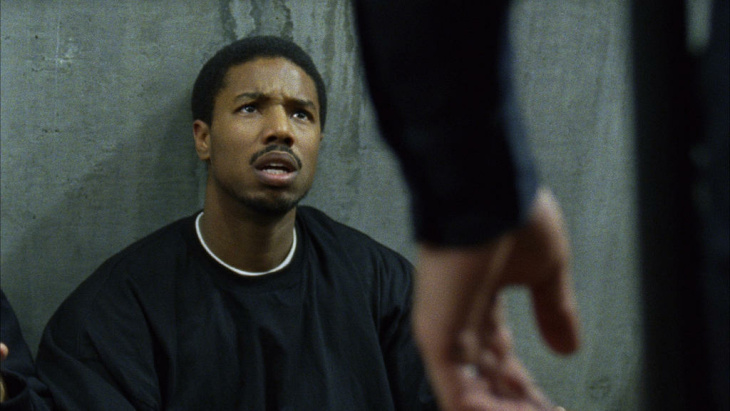 Actor Michael B. Jordan, in a scene from the new film,