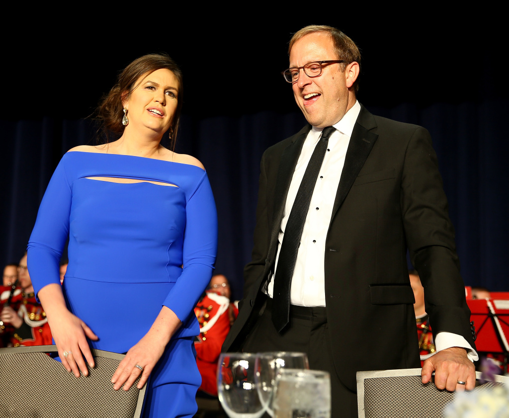 Sarah Huckabee Sanders and Jonathan Karl attend the 2018 White House Correspondents' Dinner at Washington Hilton on April 28, 2018 in Washington, DC.