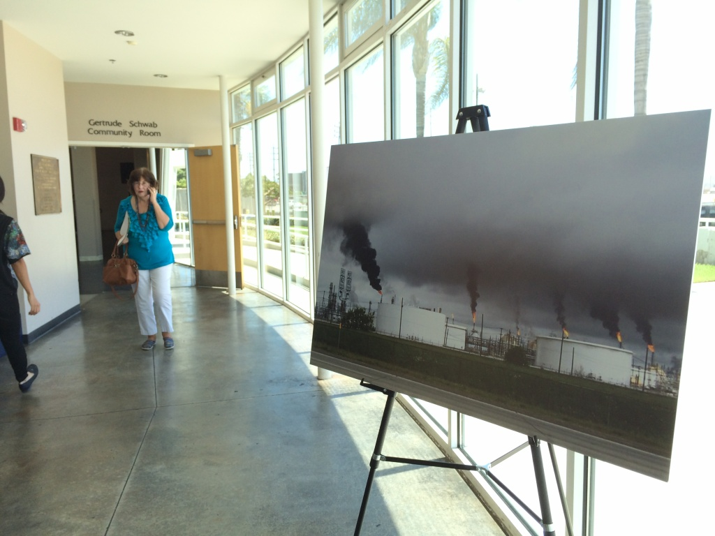 Members of the public were invited to give testimony at a hearing in Wilmington on a proposed rule for reducing air pollution from petroleum refineries.