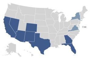 Top 10 states with the most untapped potential voters