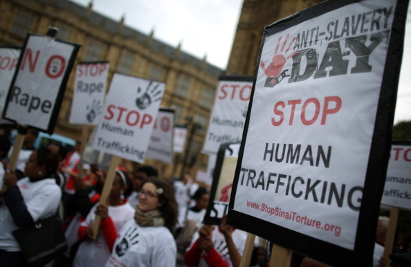 Human trafficking is a global issue, as evidenced by this recent protest in London.