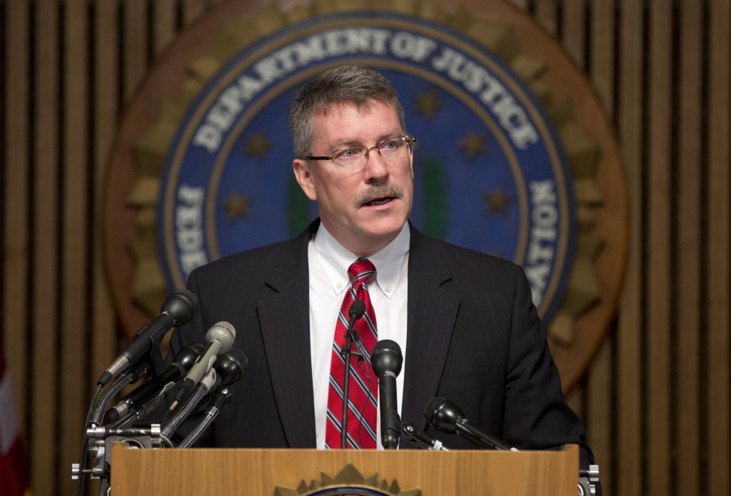 Ron Hosko, assistant director of the FBI's Criminal Investigative Division, speaks at a news conference at FBI headquarters about