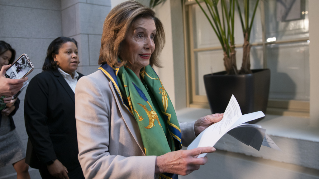 Speaker Nancy Pelosi told Democrats the House will vote to send the articles of impeachment against President Trump to the Senate Wednesday