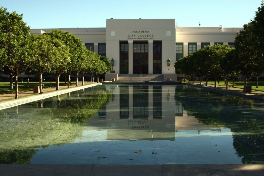 Pasadena City College. Two administrators are being investigated for bribery charges.