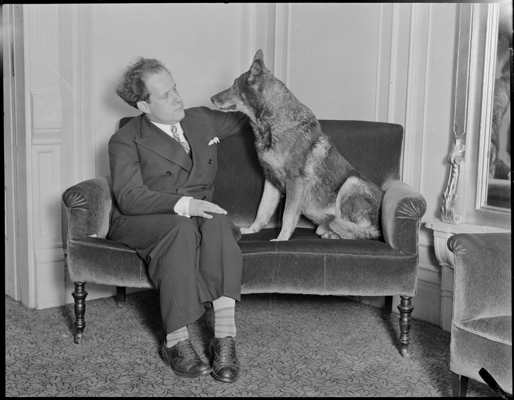 Rin Tin Tin in Boston, 1930.