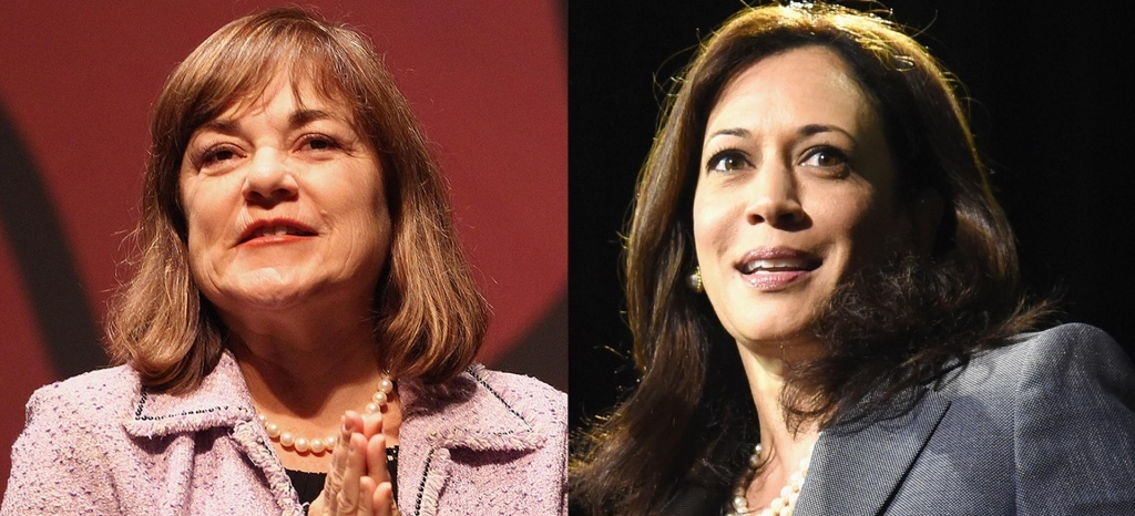 Rep. Loretta Sanchez (L) and Attorney General Kamala Harris.