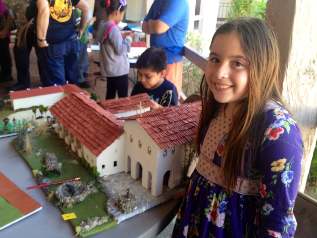 Fourth graders from Southern California competed in the 10th annual Model Mission Exhibit and Contest at the San Gabriel Mission on Saturday, April 5, 2017. Sophia Sherman was the overall winner for her model of Mission San Luis Obispo de Tolosa​.