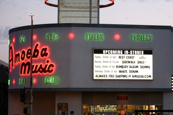 Record stores like Amoeba Music in Hollywood still host events to mark the release of new albums.