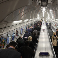 Commuters make their way on the escalator at Angel underground station on March 5, 2012 in London, England.