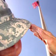 salute army military flag veterans