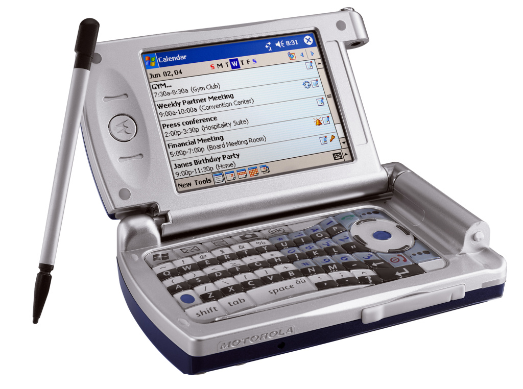 The Motorola MPx wireless device which is designed to be multi-functional phone with Wi-Fi, General Packet Radio Service technologies, and a fully functioning keyboard.