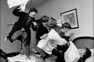 Harry Benson encouraged the Beatles to have a pillow fight the night