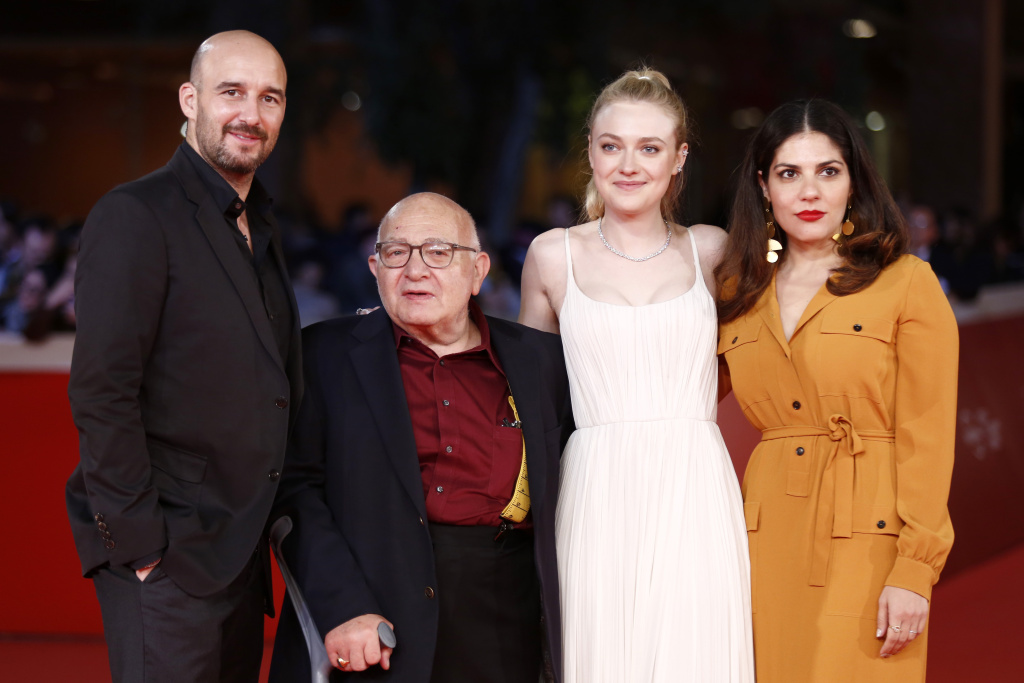 Daniel Dubieck, Ben Lewin, Dakota Fanning and Lara Alammedine walk a red carpet for 'Please Stand By' during the 12th Rome Film Fest at Auditorium Parco Della Musica on October 31, 2017 in Rome, Italy.