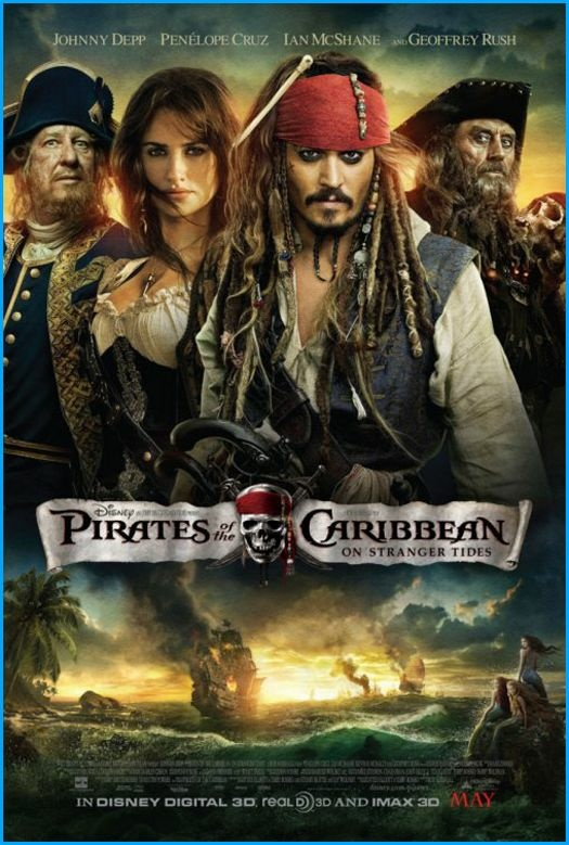 """Pirates of the Caribbean: On Stranger Tides"" movie poster. The next ""Pirates of the Caribbean"" sequel has been temporarily docked."