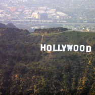 Aerial View of the Hollywood Sign