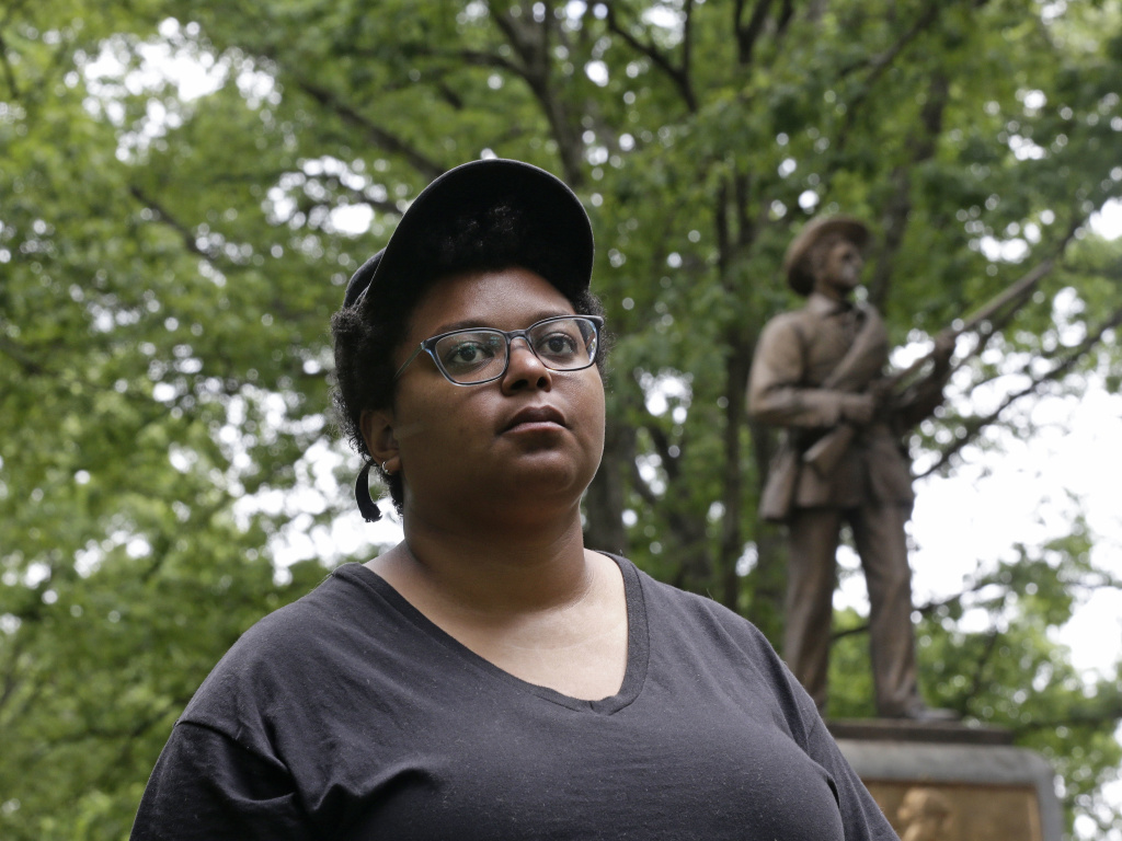 Activist Maya Little, photographed in May before the toppling of the