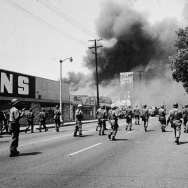 National Guard And Fires In Watts Riots
