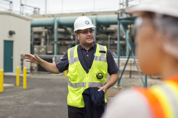 The Edward C. Little Water Recycling Facility in El Segundo produces five types of
