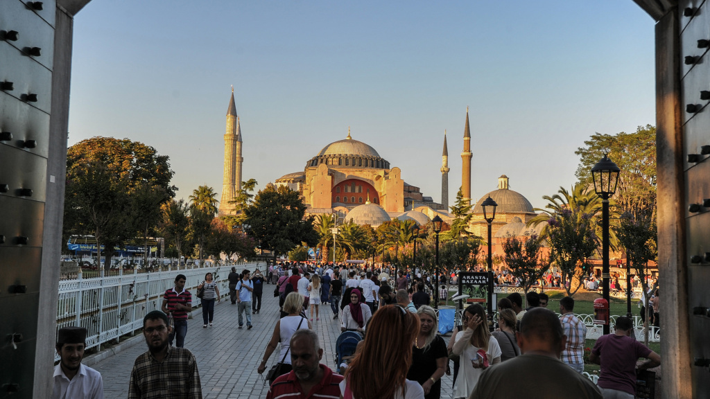 Officials hope to bring the Olympics to Istanbul for the 2020 Games. Here, the city's Hagia Sophia Museum is seen in the background, with Sultan Ahmed Square in the foreground.