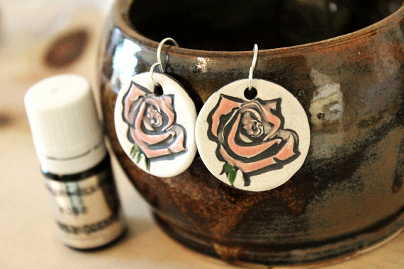 Handmade ceramic jewelry sold on Etsy by Amy Roth.